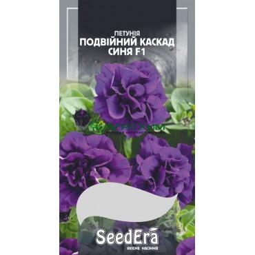 Петуния Бахромчатая крупноцветковая низкорослая Двойной Каскад Синяя F1 10 шт (Чехия)