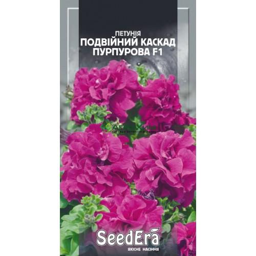 Петуния Бахромчатая крупноцветковая низкорослая Двойной Каскад Пурпурная F1 10 шт (Чехия)