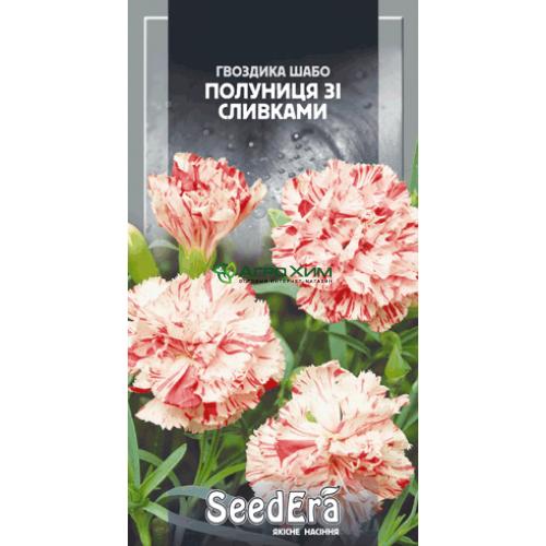 Гвоздика садовая Шабо махровая клубника со сливками 0.2 г