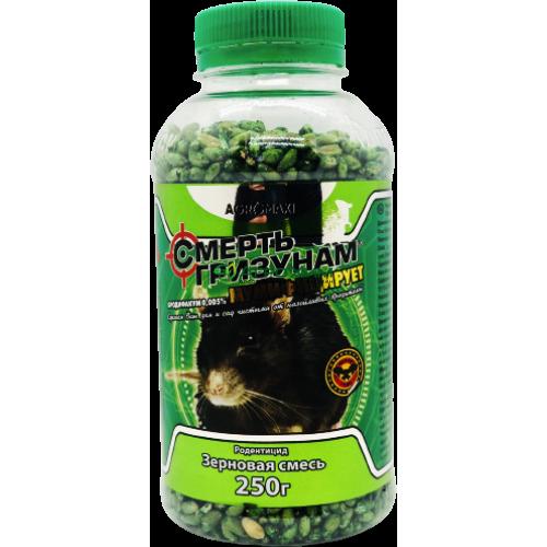 Смерть грызунам 250 г, бутылка (зеленое зерно, арахис)